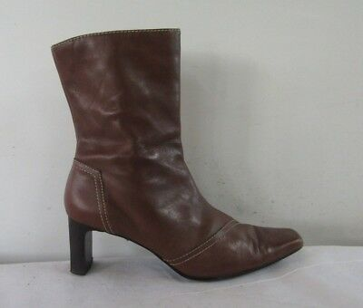 277ede99 CJS COUNTRY JACK Studio brown leather ankle boots UK 7/40 - £18.99 ...