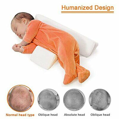 Baby Sleep Pillow Wedge Adjustable Infant Anti-Roll Flat Head Cushion Support US