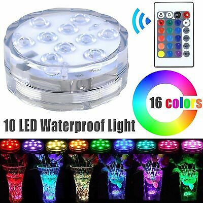 Led Underwater Lights remote Control 12pcs Rgb Submersible Led Lights Waterproof Battery-operated Underwater Colorful Lamp