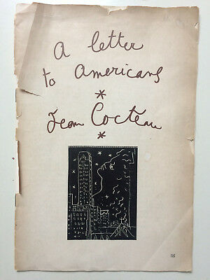 Jean Cocteau 1950 A letter to Americans, 16 pages