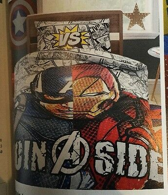 Next Reversible Captain America Marvel Single duvet cover only