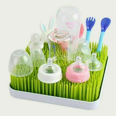 Drying Rack Baby Bottle Twig White Grass Lawn Accessory Countertop Simple