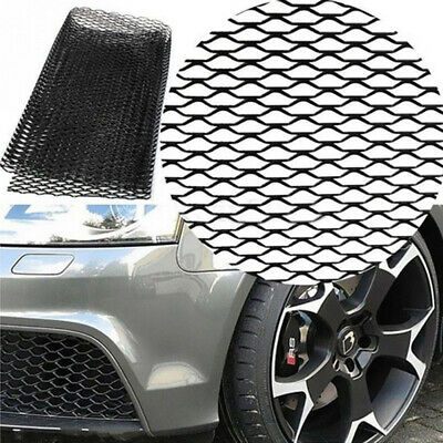 "Universal 40"" x 13"" Rhombic Grille Mesh Sheet Black Aluminum Alloy Car Vehicle"