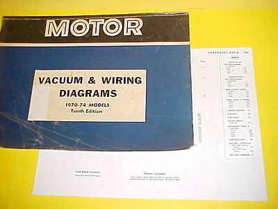 1970 1971 1972 1973 1974 chevrolet nova ss coupe sedan vacuum+wiring  diagrams