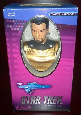 Star Trek Captain Koloth Limited Edition Bust Sideshow #0437/1000 NEW