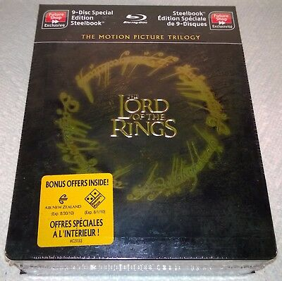 The Lord Of The Rings Trilogy (2010 , Canadá) Futureshop Exclusivo Caja Metálica