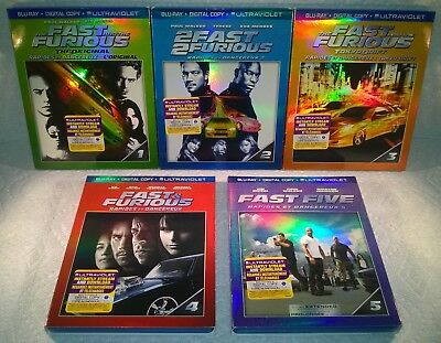 The Fast And The Furious 1 Thru 5 (2013 , Canadá) Relieve Fundas: