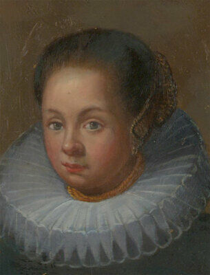 Late 19th Century Oil - The 17th Century Woman