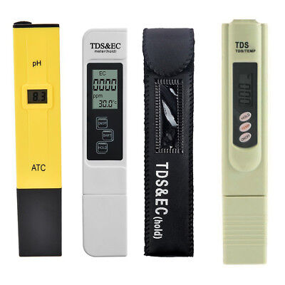 3pcs/lot Digital PH Meter Pen TDS EC Meter Aquarium Filter Water Quality Tester
