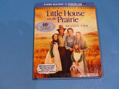 Little House On The Prairie: Season 2 5-Disc Blu-Ray + Digital Hd New
