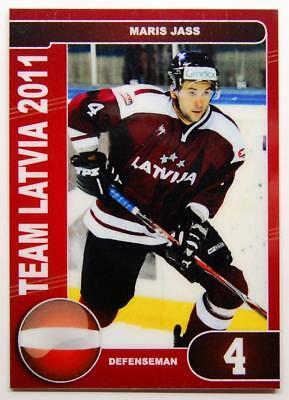 Team Latvia 2011 Ice Hockey Championship Card #52 Maris Jass