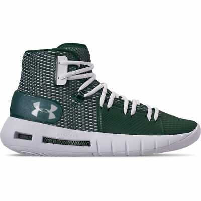 sports shoes 4367b 6c2d2 Mens Under Armour HOVR Havoc Mid Basketball Shoes Forest Green White  3020617 300