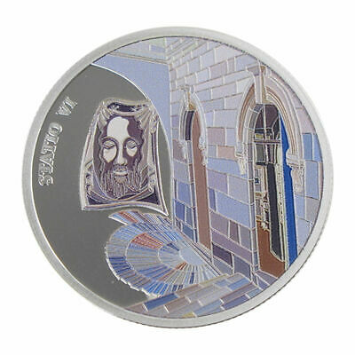 1 Oz silver.999 Medal - Via Dolorosa Stations - Veronica wipes Jesus