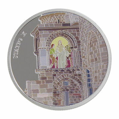 1 Oz silver.999 Medal - Via Dolorosa Stations - Jesus stripped of garments