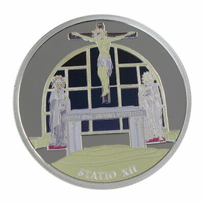1 Oz silver.999 Medal - Via Dolorosa Stations - Jesus dies on cross