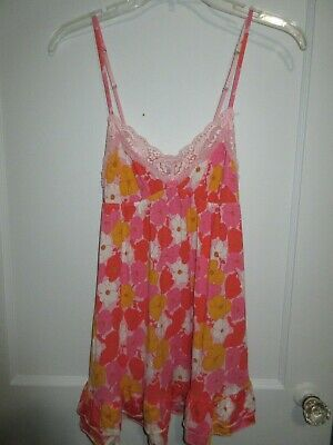 899fc986ec CHARACTER NIGHTGOWN 100% Cotton White/Pink Raised Flowers Heirloom ...