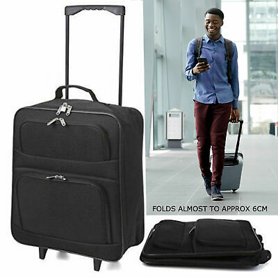 Lightweight Cabin Hand Luggage Suitcase Wheeled Trolley Travel Case Bag Set 1 2
