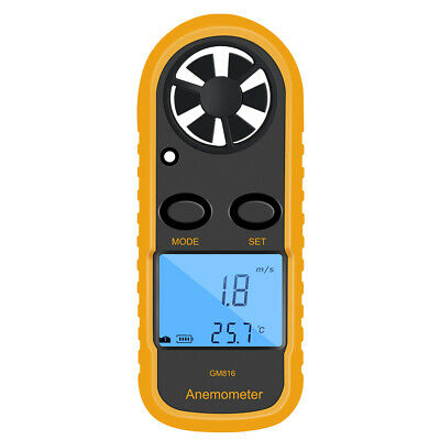 Approved Digital Handheld Anemometer Wind Speed Meter Thermometer Sailing Lcd