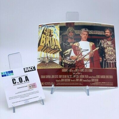 MICHAEL PALIN TERRY GILLIAM Signed 10x8 Photo THE LIFE OF BRIAN AFTAL OnlineCOA
