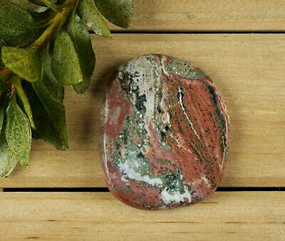 6.25cm Polished OCEAN JASPER Disk - Palm Stone Natural Tumbled Cabochon 16848