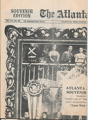 "Atlanta Journal Souvenir-Edition Premiere ""Gone With The Wind"""