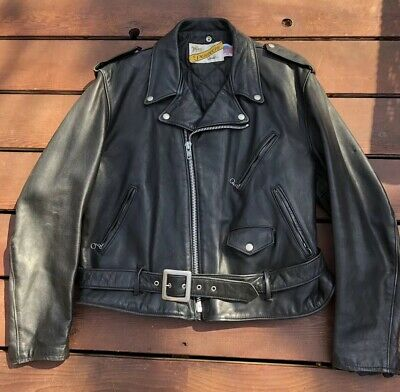b2520a24c VINTAGE SCHOTT PERFECTO Mens Leather Coat Size 48 Model 118 Motorcycle  Jacket