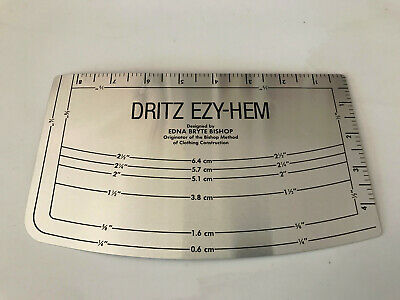 Dritz Easy Hem Ruler/Guide~ sewing & quilting