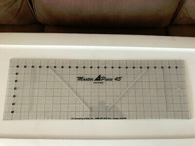 Master Piece 45 Quilt Ruler Guide