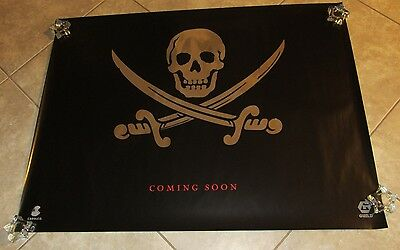 CUTTHROAT ISLAND movie poster SKULL silver embossed  uk quad movie poster