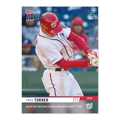 2019 Topps Now #29 Trea Turner Nationals 3/31/2019 Just 205 Printed
