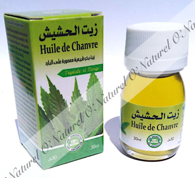Huile de Chanvre Indien BIO 100% Pure 30ml Indian Hemp Oil, Aceite Cáñamo Indio