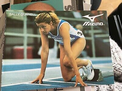Sally Gunnell Hand Signed Folded Card