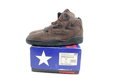 75b2521792bb Vintage 90s New Converse Mens 7 Halftime Mid Leather Basketball Shoes Brown  NIB