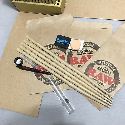 Raw King Size Cones ~ 50 Pack ~ Raw Perfect Cone Maker ~ Cookies Hydro Stone
