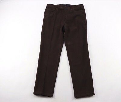 Phineas Cole Mens 34x30 Paul Stuart Casual Dress Pants Chinos Brown Cotton Italy