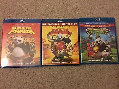 Kung Fu Panda 1, 2 & 3 Blu-ray 3 Movies Trilogy Collection