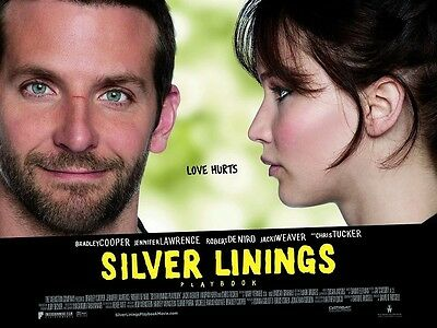 Silver Linings Playbook movie poster - 12 x 16 inches Jennifer Lawrence poster