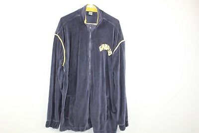 92e511bb561fd Vintage 90s Marithe Francois Girbaud Mens XL Spell Out Full Zip Velour  Jacket