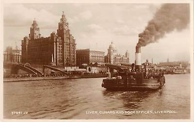 uk32937 liver cunard and dock offices liverpool real photo uk ship bateau
