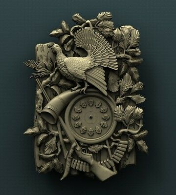 3d STL Model Relief for CNC Router Aspire _ (0354) Wall Clock