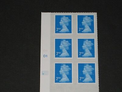 2014 Second 2nd Class Cylinder Block of Six Stamps - Position: Left 2