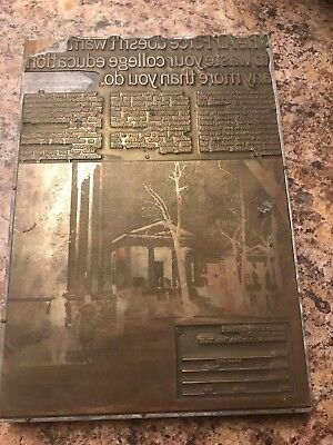 US AIR FORCE METAL PRINTING PLATE ADVERTISING Print