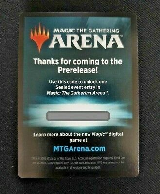 MTG Arena Sealed Event Entry Prerelease Code Magic Guilds of Ravnica M20 EMAIL