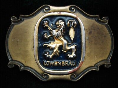 Pd01107 Vintage 1980 **Lowenbrau** Beer Brewing Company Brasstone Belt Buckle