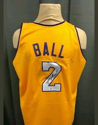 471e3ab03a1 Lonzo Ball Signed Los Angeles Lakers Jersey (Beckett COA) Autographed Auto