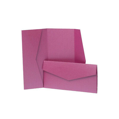 Very Berry Pearlescent Pocketfold Wallets with envelopes. DIY Wedding Invites