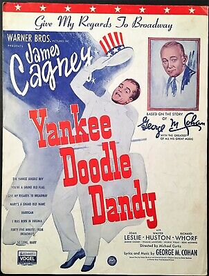 """1942 """"Yankee Doodle Dandy"""" Movie Sheet Music """"Give My Regards To Broadway"""""""