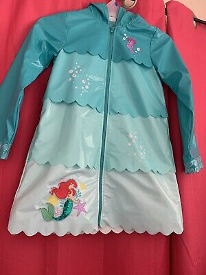 4f10e31a4 Ariel The Little Mermaid Rain Jacket Coat Teal raincoat Disney Store Deluxe