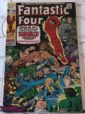 Marvel Fantastic Four #100 July 1970 Very Fine- Condition See Pictures