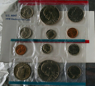 1978 P and D United States Mint Annual Uncirculated 12 Coin Set BU